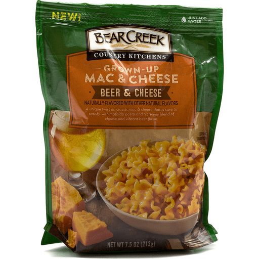 Bear Creek Country Kitchens® Grown-Up Beer & Cheese Mac & Cheese 7.5 oz. Bag