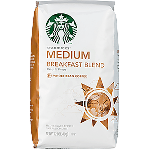 Starbucks Coffee, 100% Arabica, Ground, Medium, Breakfast Blend