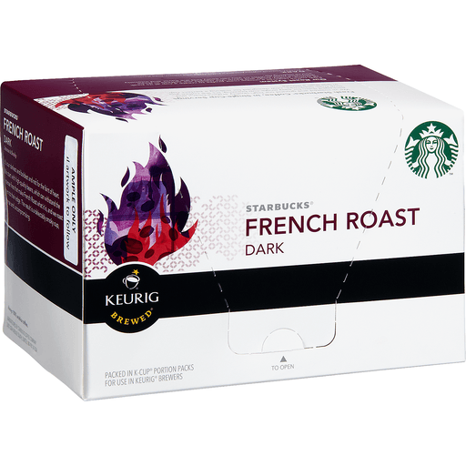 Starbucks Keurig Hot Coffee, Ground, Dark Roast, French Roast, K-Cup Pods