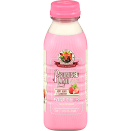 Promised Land Very Berry Strawberry Whole Milk 14 Fl Oz Bottle Sendiks Direct To Home