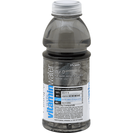 Vitaminwater Water And Juice Beverage Stur D Blue Agave