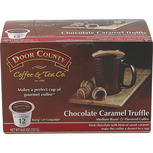 Door County Chocolate Caramel Truffle Coffee Single Serve Cups