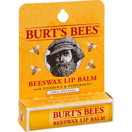 Burt's Bees 100% Natural Moisturizing Lip Balm, Beeswax, 1 Tube in Blister Box