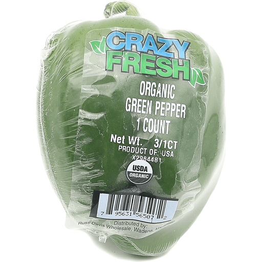 Organic Wrapped Green Pepper