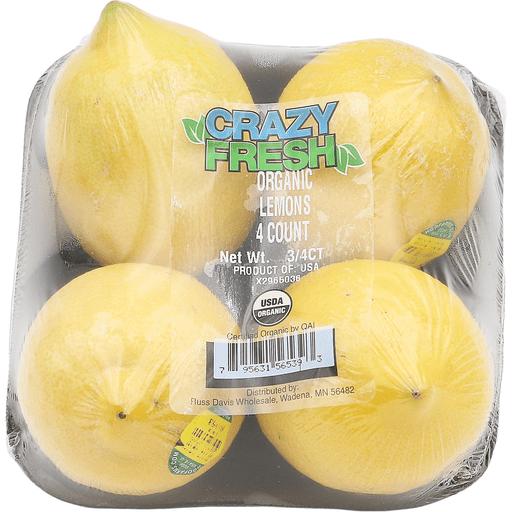 Organic Wrapped Lemons