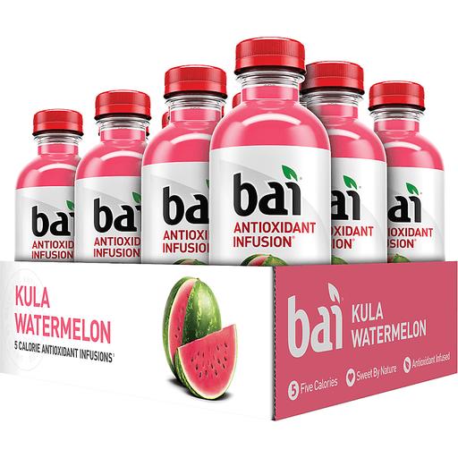 Bai Kula Watermelon, Antioxidant Infused Beverage, 18 Fl Oz Bottle
