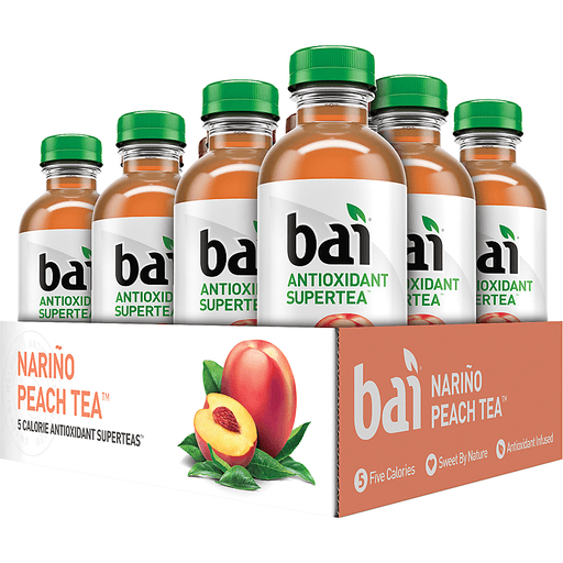 Bai Supertea Narino Peach Tea, Antioxidant Infused Tea, 18 Fl Oz Bottle