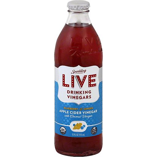 Live Sparkling Vinegar, Apple Cider, Blueberry & Ginger