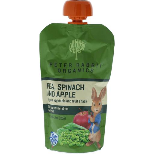 Pumpkin Tree Peter Rabbit Organics Fruit & Vegetable Puree, Organic, Apple, Pea & Spinach