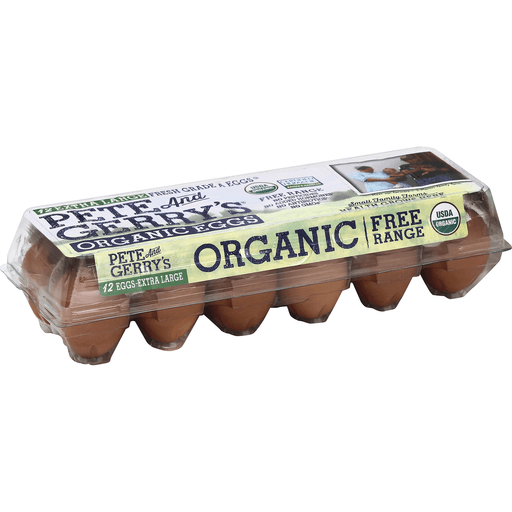 Pete and Gerrys Eggs, Organic, Free Range, Extra Large