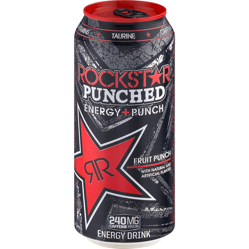 Rockstar Punched Energy Drink, Fruit Punch