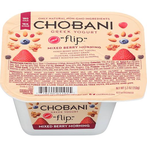 Chobani Flip Non-Fat Greek Yogurt Mixed Berry Morning