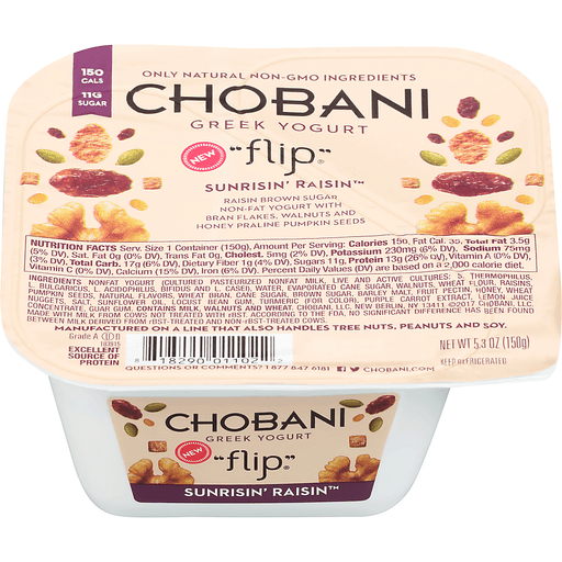 Chobani Flip Non-Fat Greek Yogurt Sunrisin' Raisin
