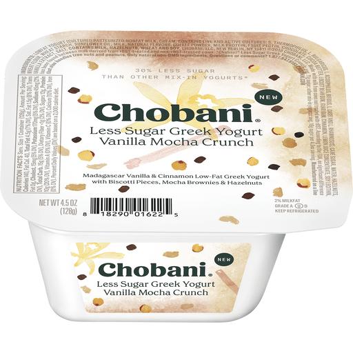 Chobani Less Sugar Greek Yogurt, Vanilla Mocha Crunch | Greek | Chief  Markets