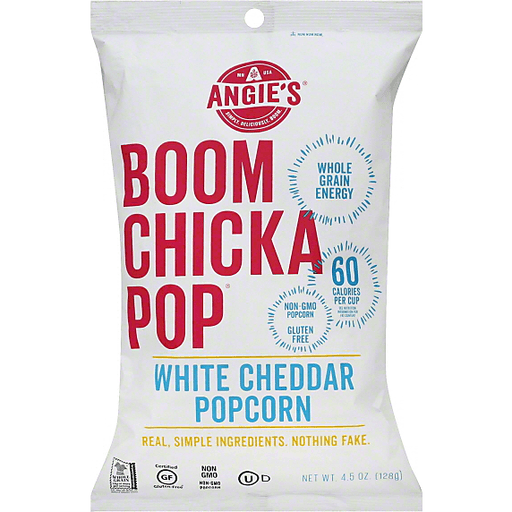 Angies Boom Chicka Pop Popcorn, White