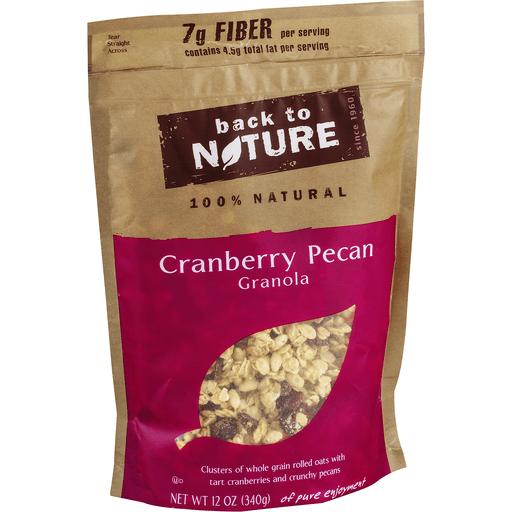 Back to Nature Granola, Gluten-Free, Cranberry Pecan