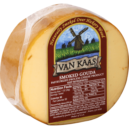 Van Kaas Cheese Product, Pasteurized Process, Smoked Gouda