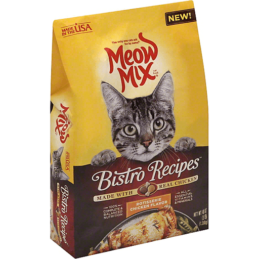 00829274531641 Meow Mix Bistro Recipes Cat Food Rotisserie