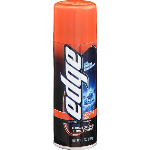 Edge Shave Gel, Sensitive Skin, with Aloe