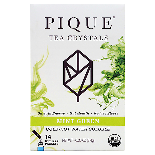 Pique Tea Org Sencha Mint Tea Crystals