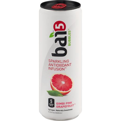 Bai Bubbles Gimbi Pink Grapefruit, Sparkling Antioxidant Infused Beverage, 11.5 Fl Oz Can