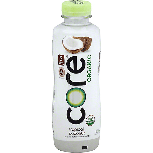 Core Organic Beverage, Organic, Tropical Coconut