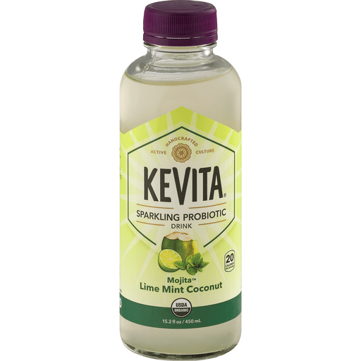 Kevita® Mojita® Lime Mint Coconut Sparkling Probiotic Drink 15.2 fl. oz. Bottle