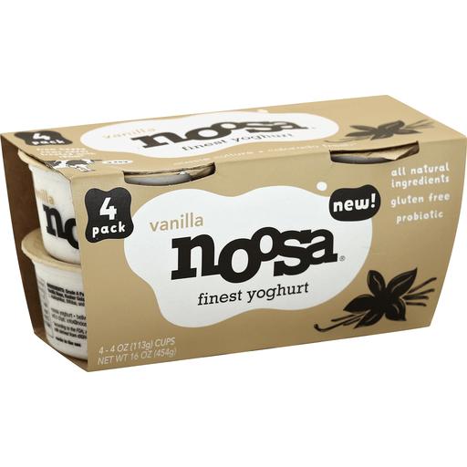 Noosa Yoghurt, Finest, Vanilla, 4 Pack