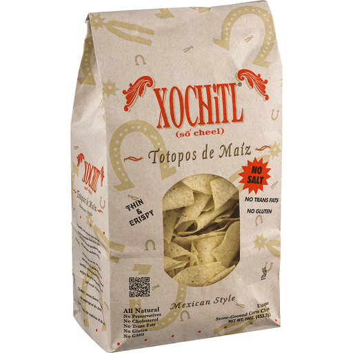 Xochitl Corn Chips, No Salt, Mexican Style