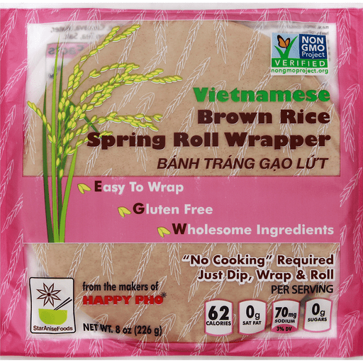 Happy Pho Brown Rice Spring Roll Wrappers
