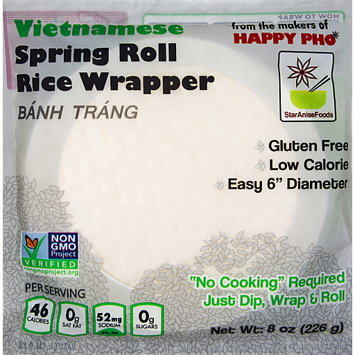 Happy Pho White Rice Spring Roll Wrapper