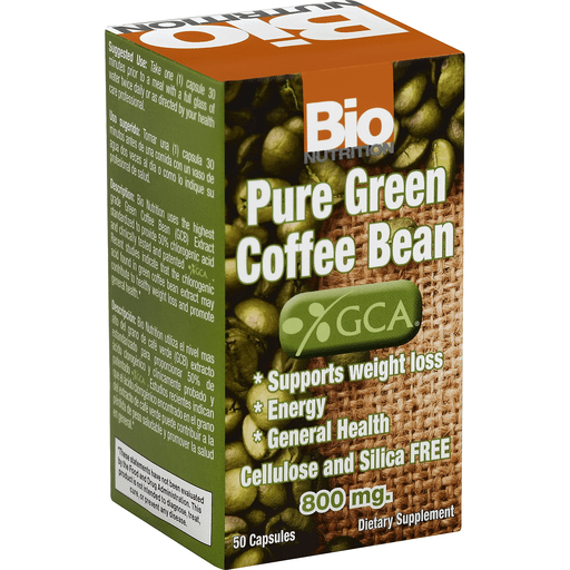 Bio Nutrition Pure Green Coffee Bean 50 Gelcaps Shop Price