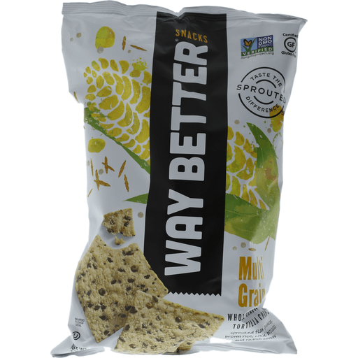 Way Better Simply Sprouted Tortilla Chips, Multi-Grain, Simply Sunny