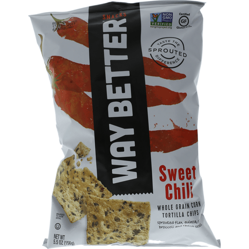 Way Better Simply Sprouted Tortilla Chips, Simply So Sweet Chili