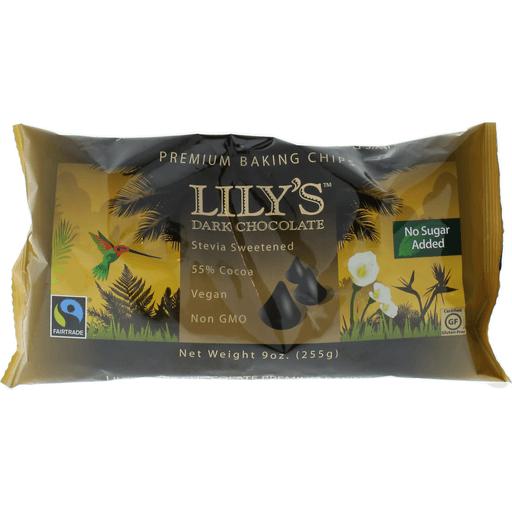 Lilys Baking Chips, Premium, Dark Chocolate, 55% Cocoa