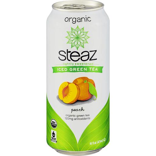 Steaz Organic Green Tea, Iced, Peach