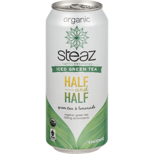 Steaz Green Tea & Lemonade, Organic, Half & Half