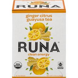 Runa Tea Organic Ginger Centers Guayusa Tea, 16 Bags