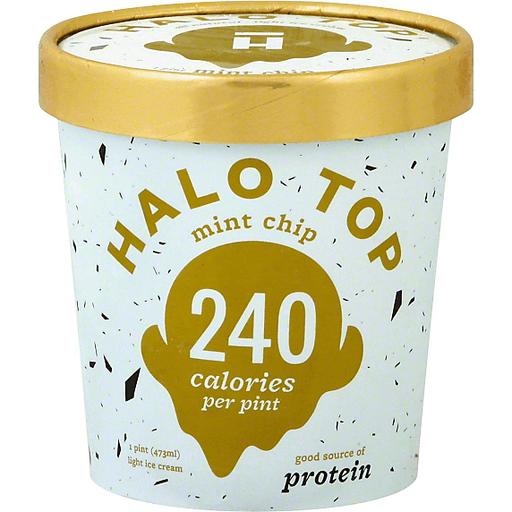 Halo Top Ice Cream, Light, Mint Chip