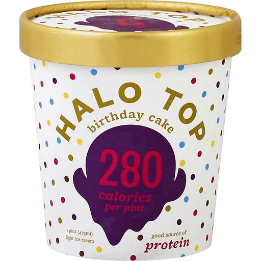 Halo Top Ice Cream, Light, Birthday Cake