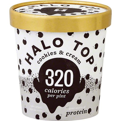 Halo Top Light Ice Cream Cookies & Cream
