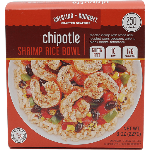 Cheating Gourmet Shrimp Rice Bowl Chipotle