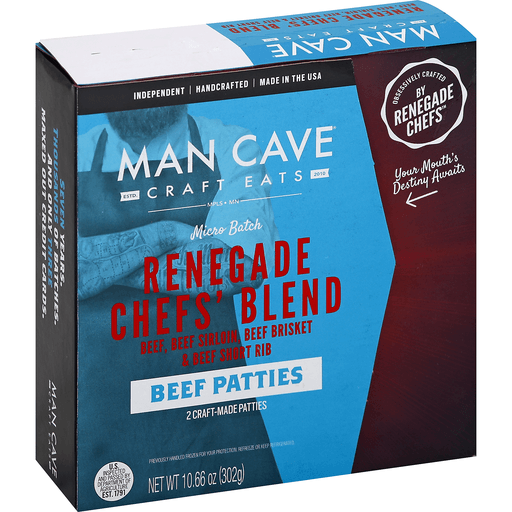 Man Cave Beef Patties, Renegade Chefs' Blend