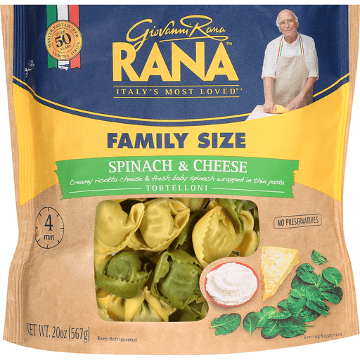Rana Tortelloni, Spinach & Cheese, Family Size