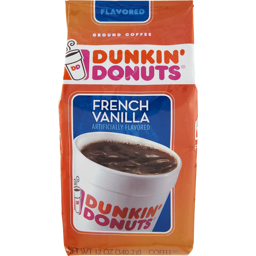 Dunkin Donuts Coffee, Ground, French Vanilla
