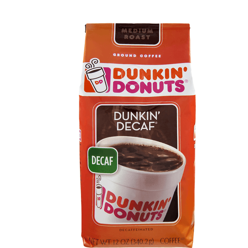 Dunkin Donuts Coffee, Ground, Medium Roast, Dunkin' Decaf, Decaffeinated