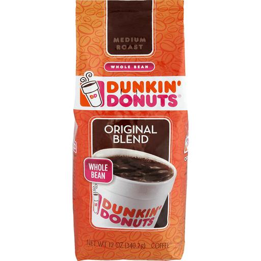 Dunkin Donuts Coffee, Whole Bean, Medium Roast, Original Blend