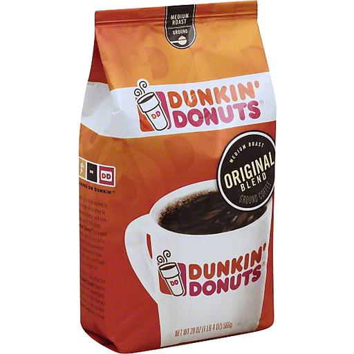 Dunkin Donuts Coffee, Ground, Medium, Original Blend