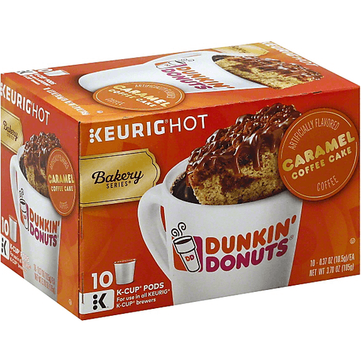 Dunkin Donuts Keurig Hot Bakery Series Coffee, Caramel Coffee Cake, K-Cup Pods