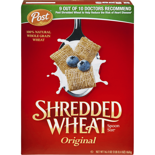 Shredded Wheat Cereal, Original, Spoon Size